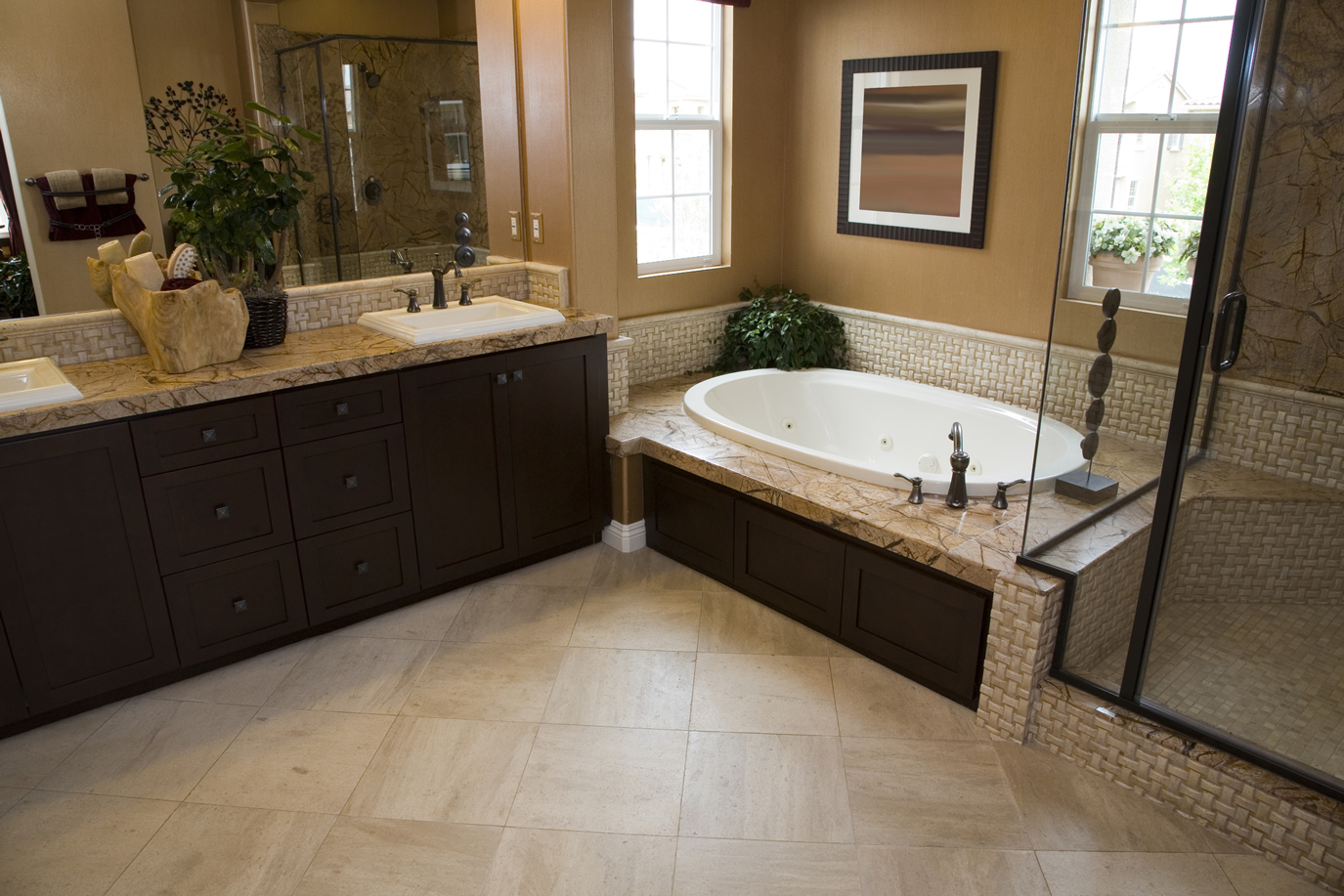 Master Bathroom Natural Stone natural stone restoration - scotts cleaning services